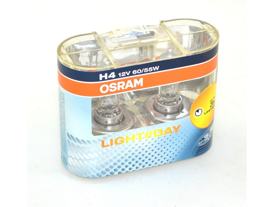 Žárovka H4 12V 60/55W P43t OSRAM Light@Day DUO 64193D - sada 2 kusy
